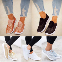 Vulcanized Shoes Woman Sneakers Trainers Sequined Glitter White Sneakers Sparkly Ladies Casual Shoes Bling flat D30 свадебное платье emmanuel rd438 sparkly bling