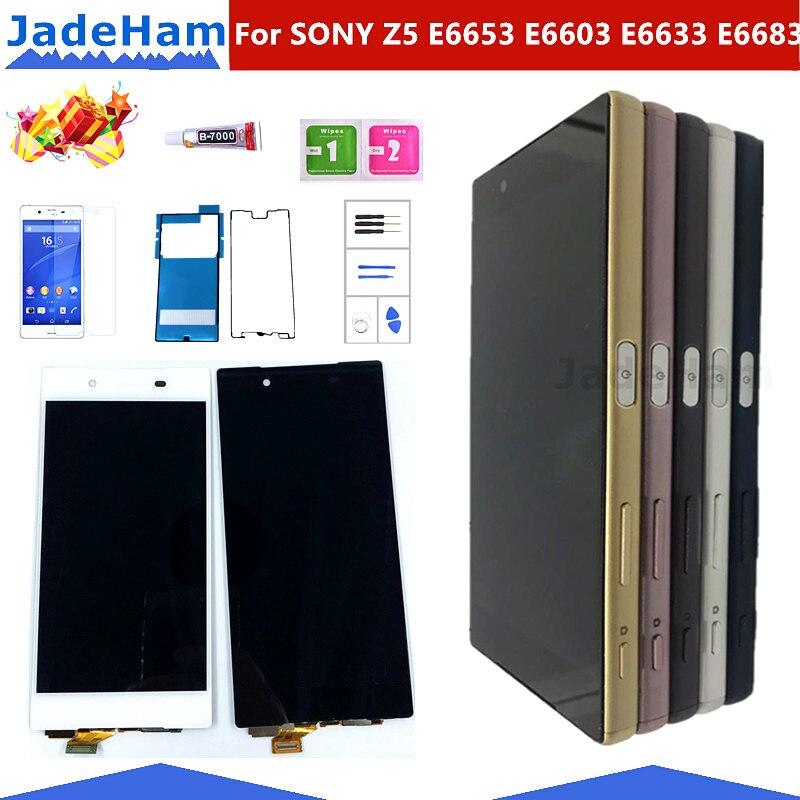 Original 5.2 Display For SONY Xperia Z5 LCD Touch Screen with Frame For SONY Xperia Z5 Dual LCD Display E6653 E6603 E6633 E6683