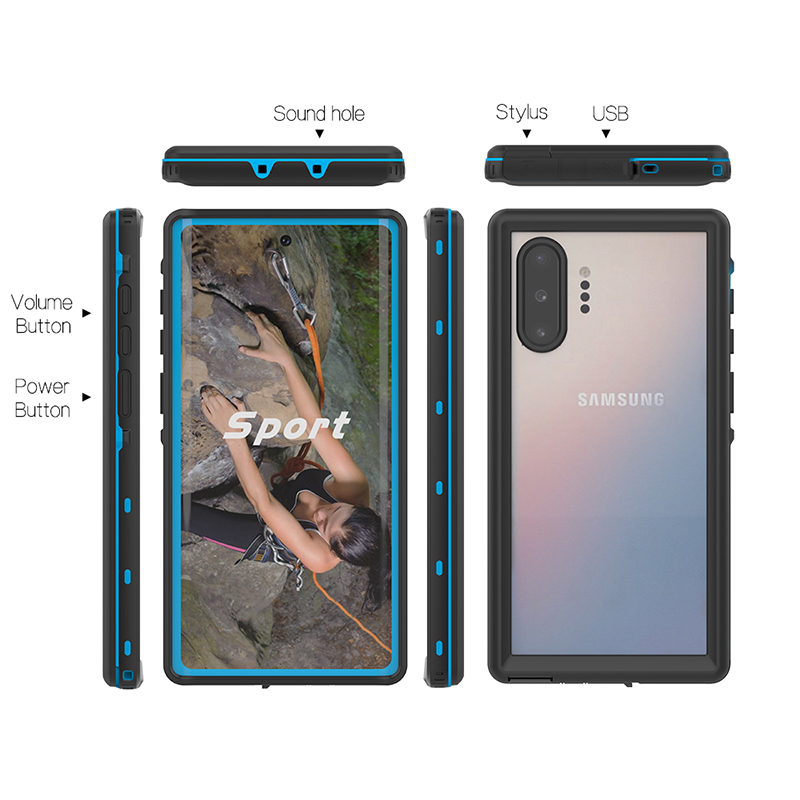 IP68 Waterproof Case For Samsung S10E S9 S10 Plus Phone Case Swimming Cover Water Proof Case For Samsung Galaxy Note 10 10 9 8 in Fitted Cases from Cellphones Telecommunications