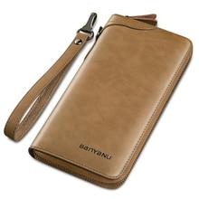 Luxury Brand Men Wallets Long Purse Male Clutch Wallet Genui