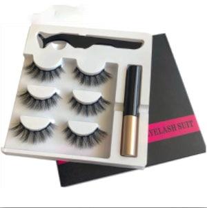 Magnetic Eyelashes Eyeliner Eyelash Curler Set5 Magnet Natural Long Magnetic False Eyelashes With Magnetic Eyeliner