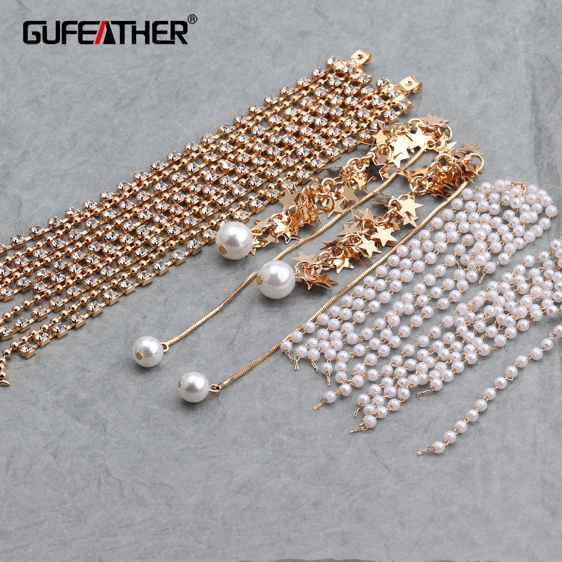 GUFEATHER M606,jewelry Accessories,ear Chain,diy Beads Pendant,hand Made,jump Ring,diy Earrings,jewelry Making,10pcs/lot