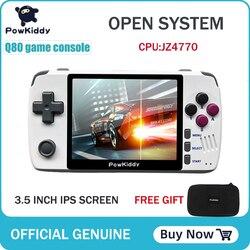 Powkiddy q80 ريترو لعبة فيديو وحدة التحكم الهاتف 3.5 IPS الشاشة المدمج في 1000 ألعاب فتح نظام PS1 محاكاة 16G الذاكرة ألعاب جديدة
