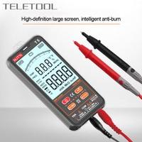 NJTY-multímetro Digital ultrafino T5, probador de corriente de voltaje CA/CC, rango automático, pantalla LCD, NCV, valores eficaces verdaderos, medidor de bolsillo eléctrico