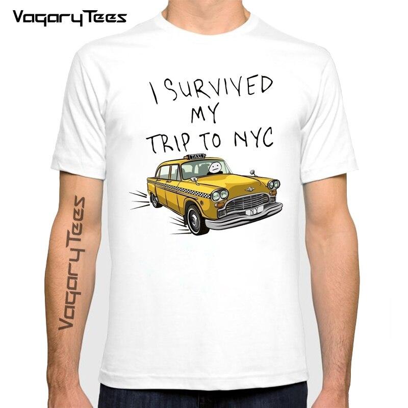 Забавный Человек же Стиль короткий рукав Футболка Новая мода мужской/женский пережила моя поездка в Нью-Йорк футболки Harajuku мужские рубашки ...