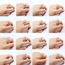 1pcs Silvery Fashion Adjustable Rings for Women Party Favors Finger Jewelry Gift for Valentines Party Gifts for Souvenir(China)