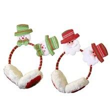 68UA Santa Earmuff Faux Fur EarMuffs Ear Warmers Winter Earmuffs For Kids Ear Warmers
