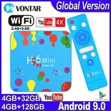 H96 Mini Android TV, pudełko Max 4GB RAM 128GB ROM Smart TV Box TV, pudełko Android 9.0 H96mini Allwinner H6 2.4/5G Wifi TVBOX wsparcie Youtube 4K
