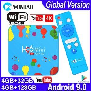 Image 1 - Mini TV Box H96 con Android, TV Box con 4GB de RAM, 128GB de ROM, dispositivo de TV inteligente, Android 9,0, H96mini, Allwinner H6, 2,4/5G, wi fi, compatible con Youtube, 4K