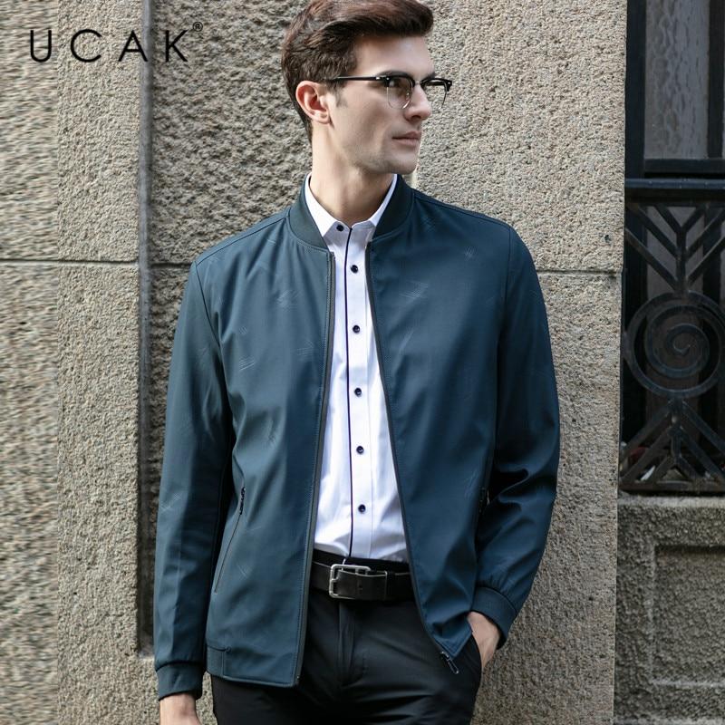 UCAK Brand Plaid Zipper Pockets Jackets Mem 2020 New Fashion Style Casual Jacket Streetwear Polyester Chaquetas Hombre U8056