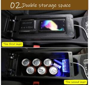 Image 3 - Per Suzuki Vitara box bracciolo auto universale center console caja accessori di modifica del doppio sollevato con USB