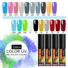 Zation Murni Warna Gel Cat UV Nail Gel Rendam Off 52 Warna Glitter Nail Art LED Nail Gel Pelangi Lukisan 5 Ml Gel Kuku Polandia(China)