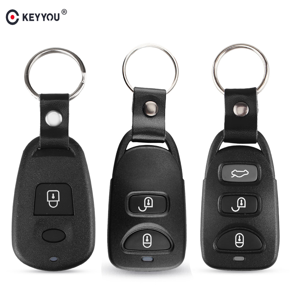 KEYYOU Remote Car Key Shell 1/2/3/4 Button For <font><b>Hyundai</b></font> Kia Carens Tucson Elantra <font><b>Santa</b></font> <font><b>FE</b></font> Carens Sonata 2006 2007 2008 2009 <font><b>2010</b></font> image