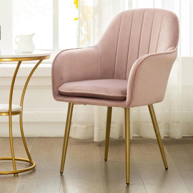 Nordic luxury dining chair net red makeup chair tea coffee chair home customized wrought iron home sofa study armchair chairs