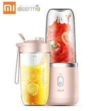 Xiaomi deerma 무선 전기 휴대용 juicer 400ml 자동 다목적 미니 usb rechargable 주스 컵 블렌더 컷 믹서
