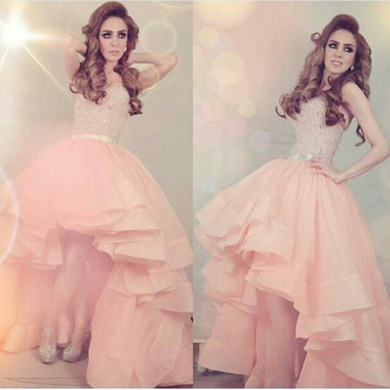 Custom Made Sweetheart Asymmetrical Beading Sashes Floor-Length Prom Dresses Free Shipping