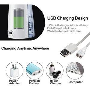 Image 5 - Электрический ирригатор для полости рта USB Перезаряжаемый водный Флоссер переносная зубная вода водный бак водостойкий очиститель зубов