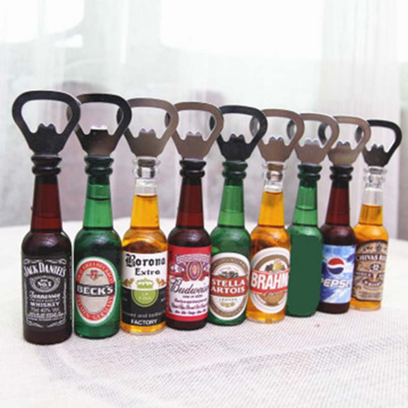 Bottle-Opener Stickers-Decoration Refrigerator-Stick-Bar Drink-Bottle Beer Magnetic Mini