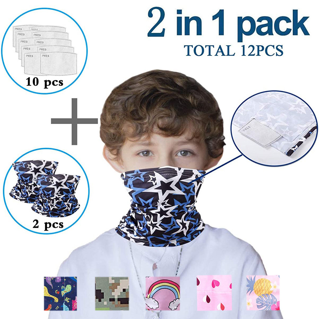 Kids Bandanas Neck Cover Gaiter Half Face Multi-purpose Safety FiltersAnti-Dust Scarf Riding Mouth Bib Scarves Foulard бандана