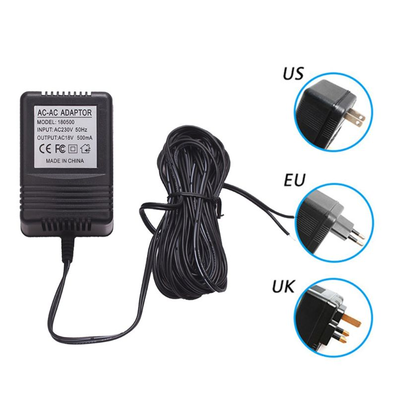 18V 18V 500mA UK/EU/US Plug Power Supply Adapter Transformer Charger For WiFi Wireless Doorbell IP Video Intercom Ring Camera