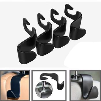 High quality Practical Car Hook Seat Hook SUV Back Seat Headrest Hanger Storage Hook For Food Bag Handbag Car Accessories image