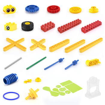 Compatible with LEGOing 9656 large particle building blocks parts turbine box fan blade accessories structural children's toys assembled DIY science and technology education