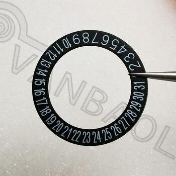 Nh35/nh36 movimento calendário acessórios de disco nh35 preto calendário disco nh36 calendário original semana disco