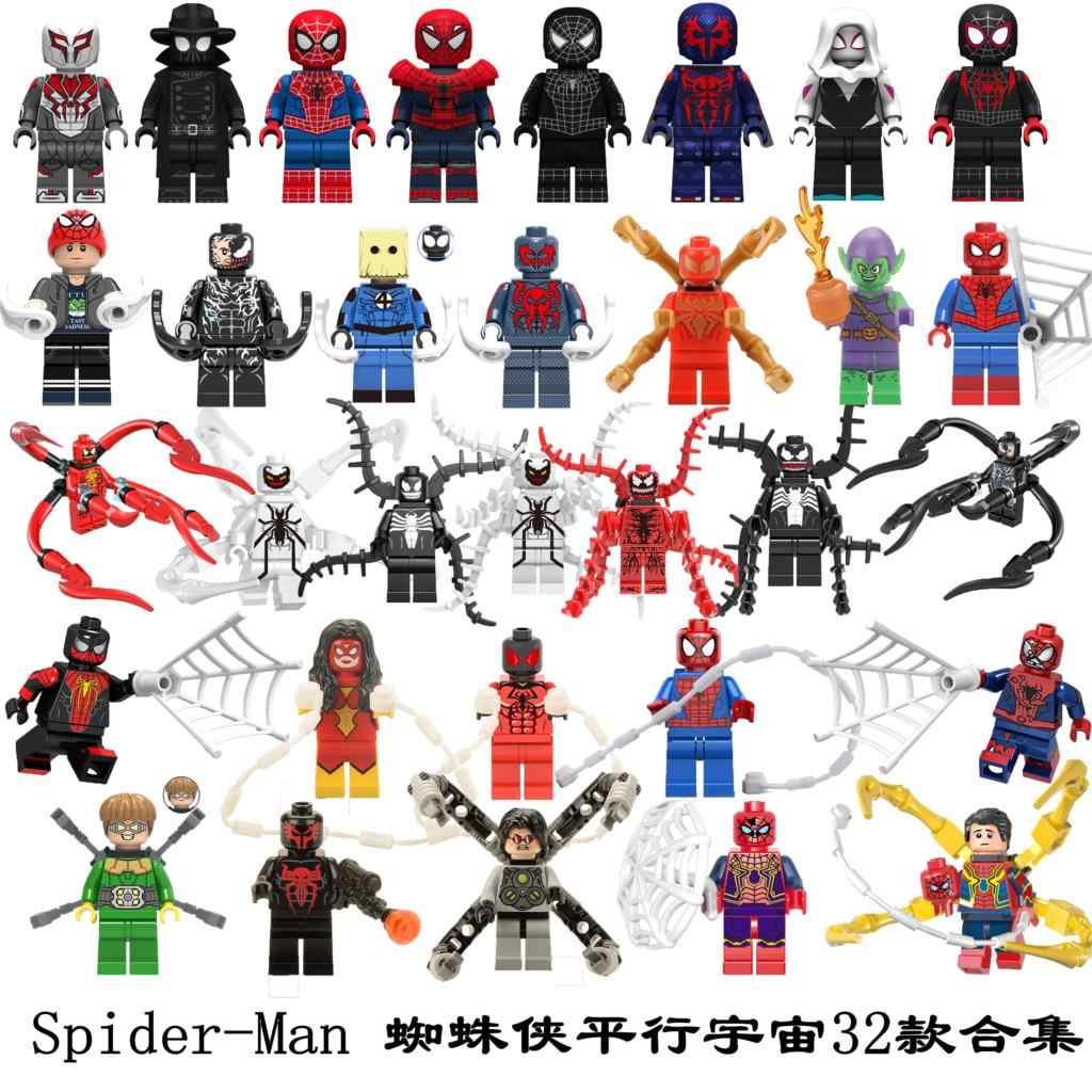 สำหรับ Spiderman Marvel Spider-Man Sandman Anti VENOM Carnage Vulture Spider Gwen Man Iron Man Avengers อาคารบล็อกของเล่นรูป
