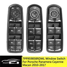7pp959858aedml 7pp959858rdml 7pp959858mdml frente botão de interruptor da janela de energia esquerda para porsche-cayenne macan panamera 2011-2017