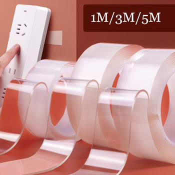 Nano Magic Tape Transparent – 1m/3m/5m Double Sided No Trace Waterproof Adhesive Tape