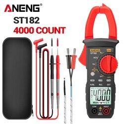 ANENG ST182 Digital Clamp Meter AC Current Multimeter DC/AC Voltage Ammeter Voltages Tester Amp Hz Capacitance NCV Ohm Test