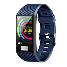 Dt58 Thin Smart Bracelet Women Band Heart Rate Color Screen Wristband Watches Waterproof Activity Fitness Tracker Smartwatch(Blu