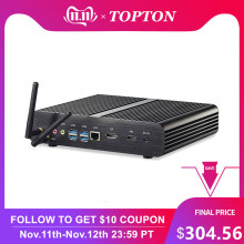 2019 Topton i7 8565U/8550U Fanless Mini PC Whiskey Lake 4 Core 8 Threads 2*DDR4 M.2 PCIe Desktop Computer Windows10 DP HDMI HTPC