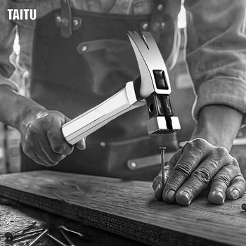 цена на TAITU 400mm Carbon Steel Claw Hammer Carpentry Hand Hammer One-piece Steel Nail Hammer Non-slip Multi-function Handle Hammer