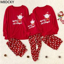 Brand New Family Matching Outfits Christmas Pajamas Set Xmas Family Matching Pajamas Adult Women Kids Sleepwear Nightwear E0301 цена