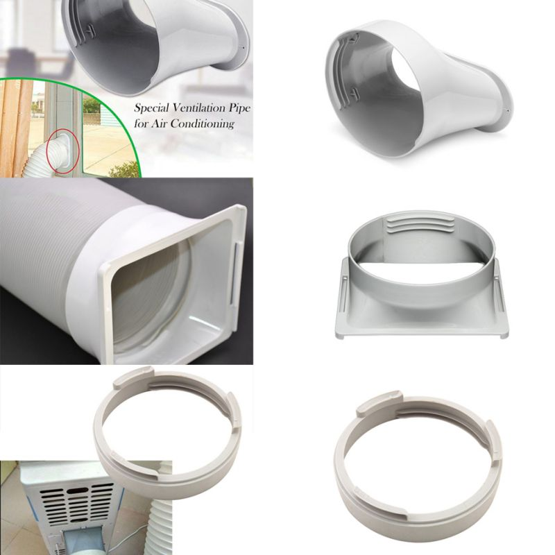 Pipe Connector Exhaust Duct Interface Window Portable Air Conditioning ABS