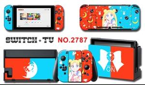 Image 4 - Vinyl Bildschirm Haut Aufkleber Anime Sailor Moon Skins Protector Aufkleber für Nintendo Schalter NS Konsole + Controller + Stand Aufkleber