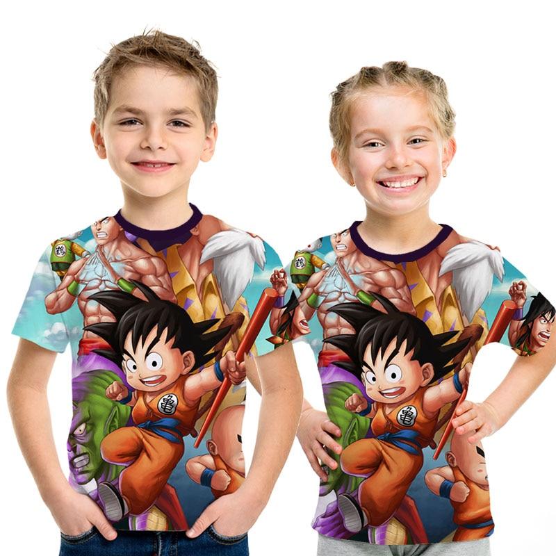 2019 New Dragon Ball Z T Shirts Children Super Saiyan Ultra Instinct Kids Goku Vegeta Printed Cartoon Streetwear T-Shirt