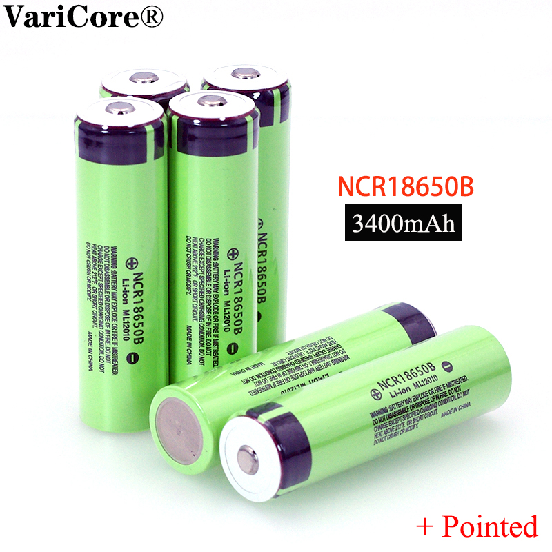 New Original 18650 3.7 V 3400 Mah Lithium Rechargeable Battery NCR18650B With Pointed(No PCB) For Flashlight Batteries