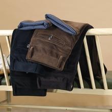2020 outono e inverno calças casuais de veludo dos homens novos negócios moda alta qualidade reta calças estiramento masculino marca