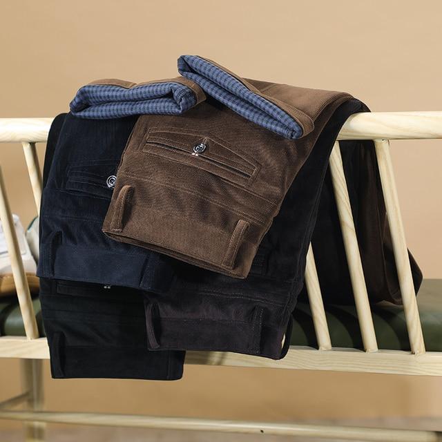 2020 осень и зима новые мужские вельветовые повседневные брюки деловые модные высококачественные прямые Стрейчевые брюки мужские брендовые