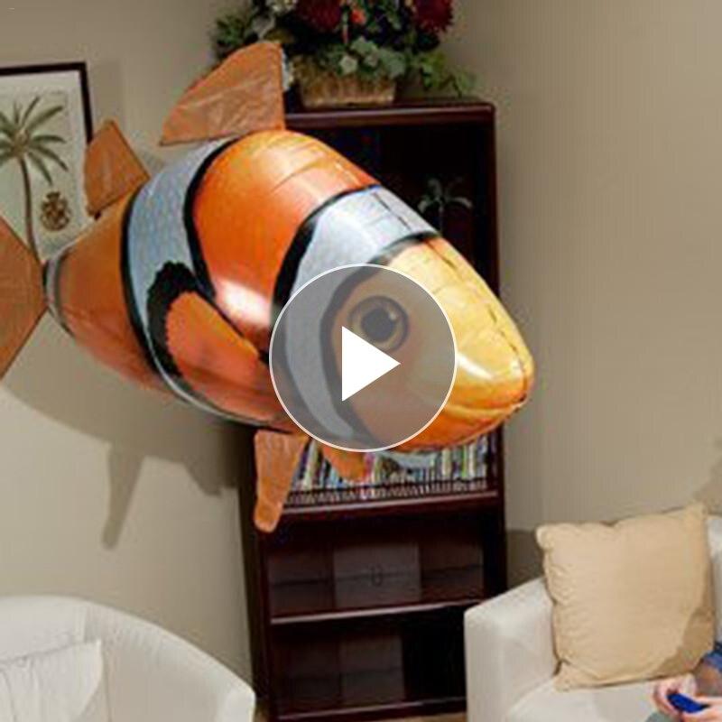 На открытом воздухе с дистанционным управлением Летающий воздушный шар Акула воздушный плавательный Рыба инфракрасный RC Немо Летающий