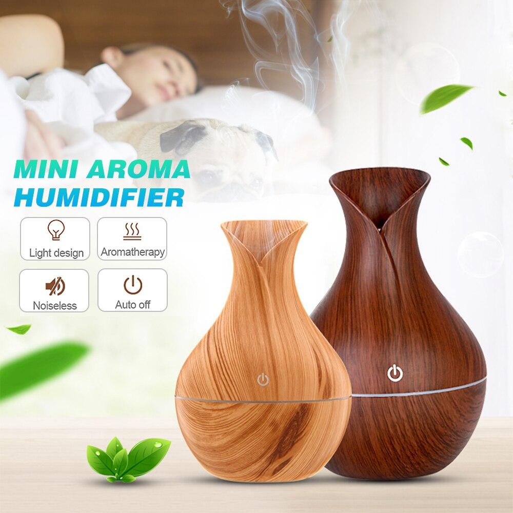 DIDIHOU Creative Vase Desktop Mini Aroma Humidifier For Essential Oils Portable Ultrasonic Mini Air Humidifier