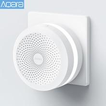 Aqara hub casa original gateway luz noturna led, trabalho inteligente para apple homekit edição internacional