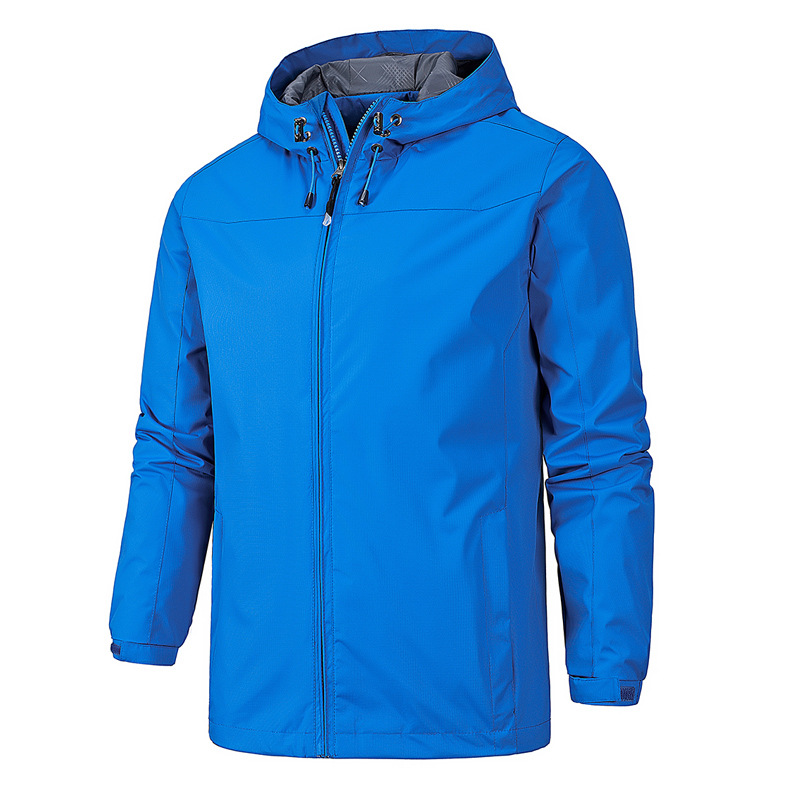 Spring And Autumn MEN'S Duster Casual Thin Jacket Solid Color Sports Jackets Outdoor Waterproof Jacket Men's Waterproof Windproo
