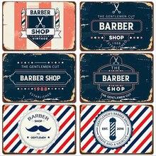Cartel de Metal Vintage, placa de Metal, decoración de pared Vintage para barbería, carteles de Metal Retro, pintura de hierro