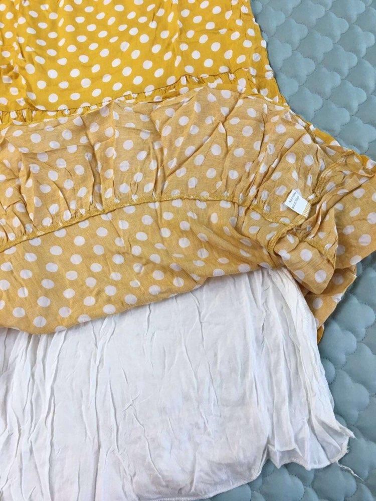 2020 New Summer Dot Dress Women Casual Cotton Above Knee Ruffled High Waist Mini Short Sleeve Dress