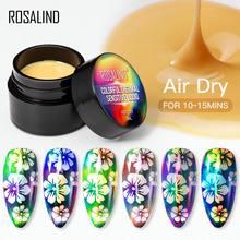 Rosalind vernizes sensíveis térmicos coloridos 2ml gel arte do prego design ar cor seca em mudança laca pintura gel semi permanente