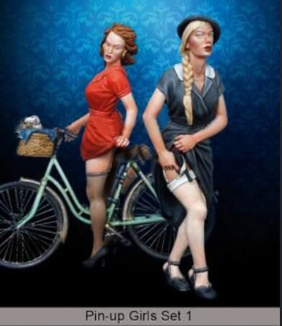 1/35 Ancient Woman (NO Bicycle Just Have 2 Woman )  Resin Figure Model Kits Miniature Gk Unassembly Unpainted
