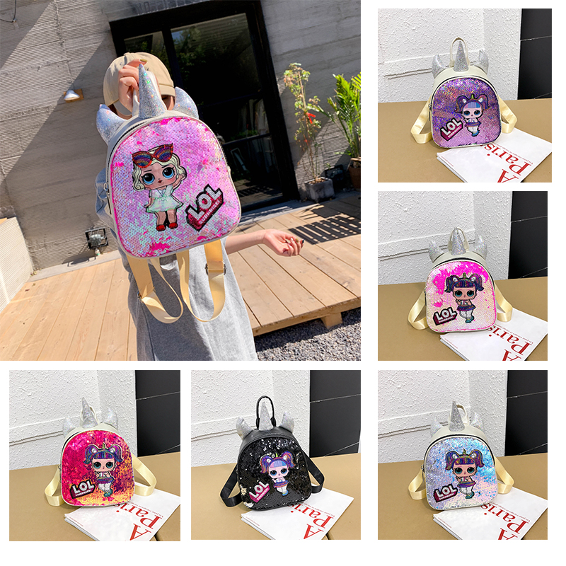 L.O.L. SURPRISE! Backpack Girl Knapsack Cartoon Doll Shape Kids Schoolbag Satchel Student Rucksack Teenagers Book Bag